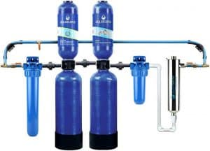 Aquasana Rhino EQ-1000-AST-UV Whole House Water Filter + UV Purifier & Salt-Free Descaler - Best Filtration
