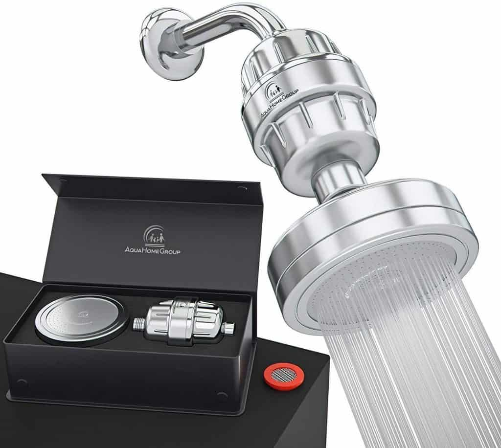 2. AquaHomeGroup AHG12S Luxury Shower Head Filter [Review] - Best Shower Head Filter image