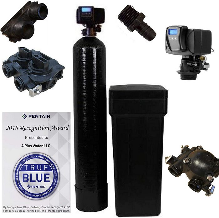 1. Fleck 5600SXT 64,000 Grain Water Softener Whole House System [Review] - Best Water Softener for Well Water image