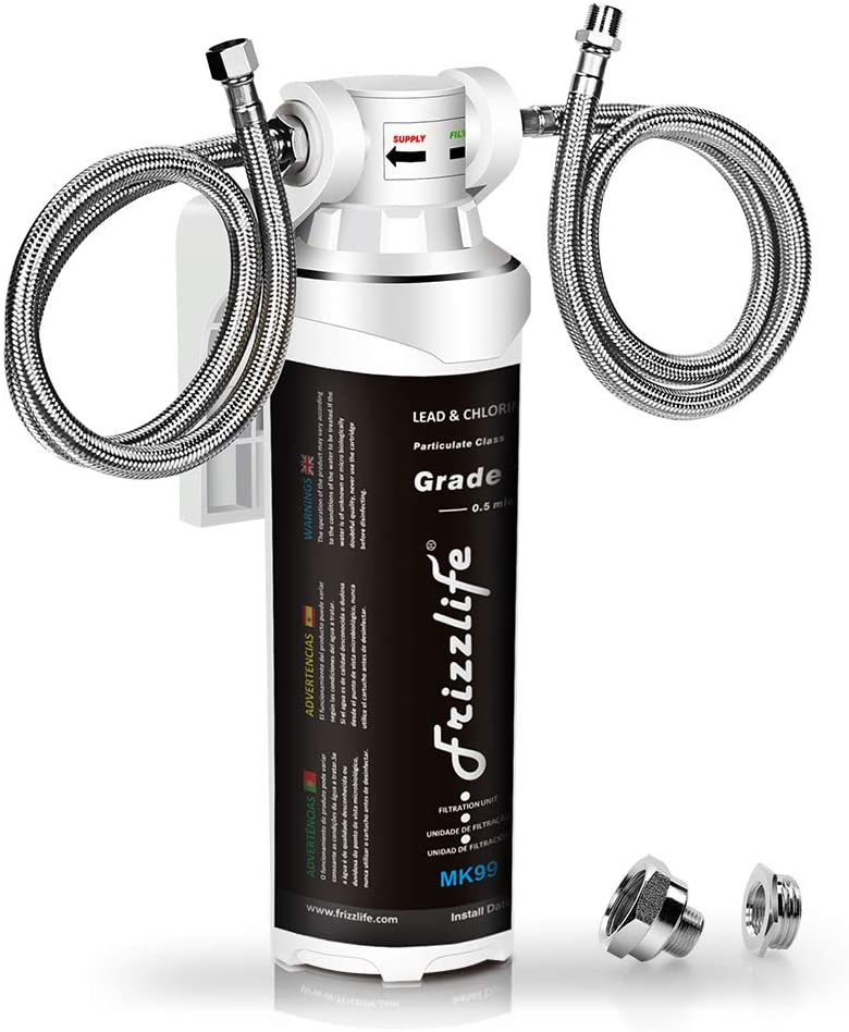 1. Frizzlife MK99 Under Sink Water Filter - Best Inline Undersink Water Filter for Lead image