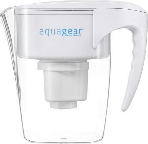 1. Aquagear Water Filter Pitcher Review - Best Water Filter Pitcher for Well Water (Overall)