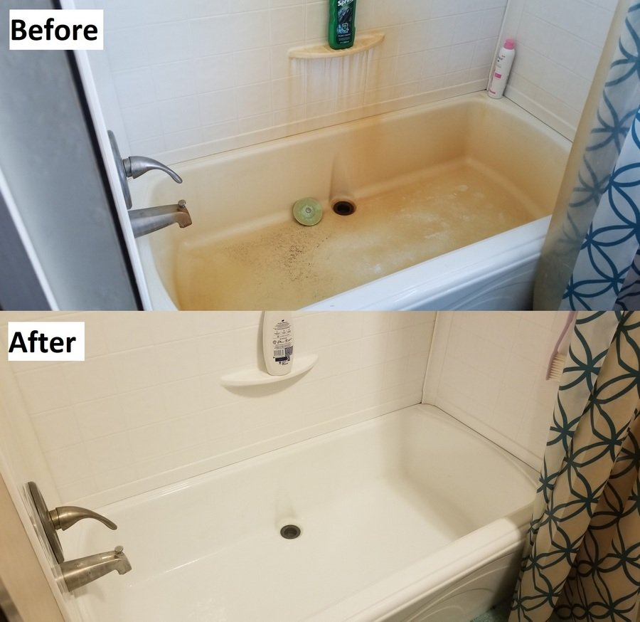Before and after using SpringWell WS1/WS4 Well Water Filtration System Image