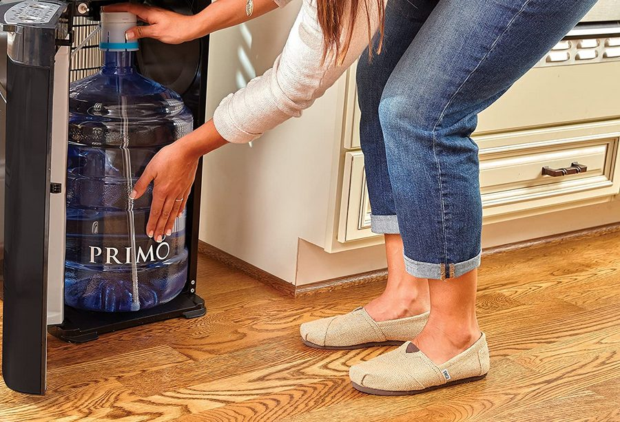 Replacing the water bottle for a Primo Bottom Load Water Dispenser